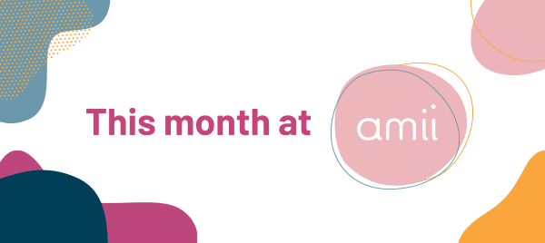 """This Month at Amii"" graphic header"